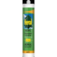 Герметик HERCUL ACRYL мастика акрилова біла (280 мл) (уп-24 шт)