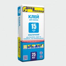 КЛЕЙ-15/FLEX клей сірий еластичний (25 кг) (п-48шт)