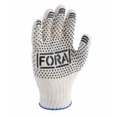 15200 перчатки FORA c ПВХ рис.белый 7 класс 10 разм.(уп-10шт) (ящ-300шт)
