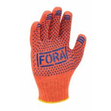 15300 перчатки FORA c ПВХ рис.оранж.7 класс 10 разм.(уп-10шт) (ящ-300шт)