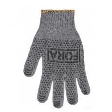 15400 перчатки FORA c ПВХ рис.серый 7 класс 10 разм.(уп-10шт) (ящ-300шт)