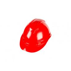 2120 Каска захист (HDPE) .червон., з вентил., Храповик, відкрив для навушників / SAFE-GUARD