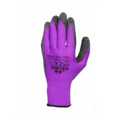 4151 Перчатки трикотаж фиолетовые с латекс. покр. неполный облив10разм.(уп-10шт)(ящ-120шт)