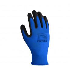 4177 Перчатки трикотаж.синие с латекс. покр, неполный облив10 разм. (уп-10шт.)(ящ-120шт)