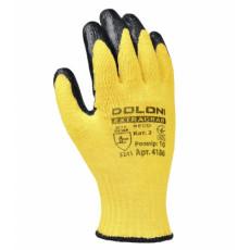 4186 Перчатки трикотаж с латексним покр,желтые неполний облив10 разм. (уп-10шт.)(ящ-60шт)