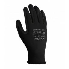 4190 Перчатки трикотаж с латексним покр,черные неполний облив 10 разм. (уп-10шт.)(ящ-60шт)