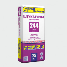 ТИНК-244/BEETLES-W2,5 Штукатурка декоративна КОРОЇД БІЛА (25 кг)(48 шт.п)